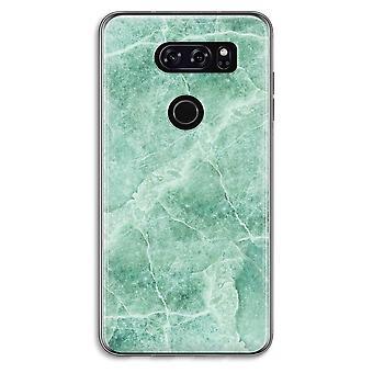LG V30 Transparent Case - Green marble