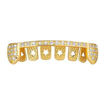 One size fits all bottom Grillz - VAMPIRE bling zirconia bar
