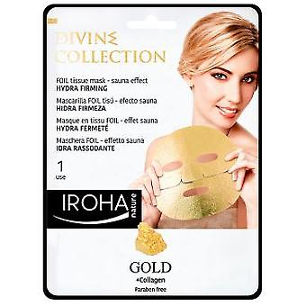 Iroha Nature Gold Tissue Hydra-Firming Face Mask 1 Unidad