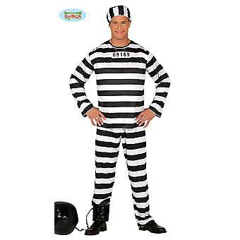 囚人衣装囚人の囚人刑務所の男性の 1 つのサイズ