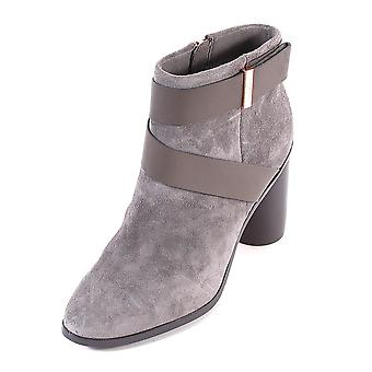 Ted Baker Women's Matynas Suede Zip Up Ankle Boot Dark Grey