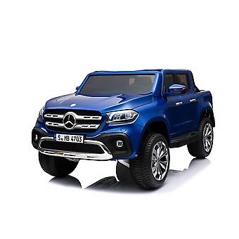 Licensed Mercedes-Benz X Class 12V Kids Electric Ride On Car Two Seater - Blue