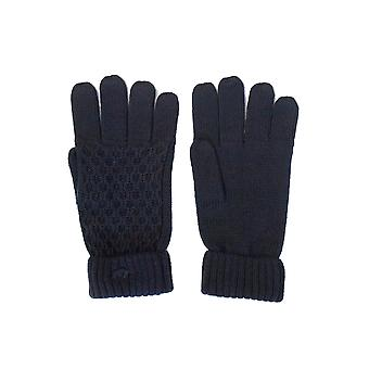 Cable Knit Gloves - Navy