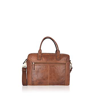 Sedgwick Leather Laptop Bag in Brown