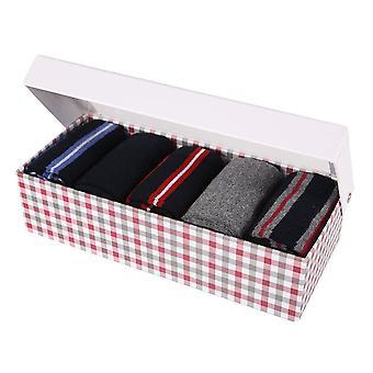 Ben Sherman hombres Set de regalo 5 calcetines de becerro marino blanco rojo azul gris vulpino