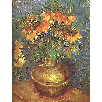 Fritillaries in a Copper Vase, Vincent Van Gogh, 73.5 x 60.5 cm
