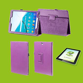 Pro 12.9 inch 2018 new version shell cover case for Apple iPad new purple art leather case + 0.4 mm hard glass