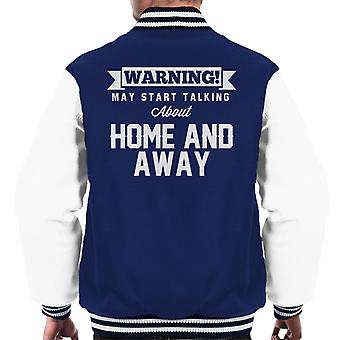 Warning May Start Talking About Home And Away Men's Varsity Jacket