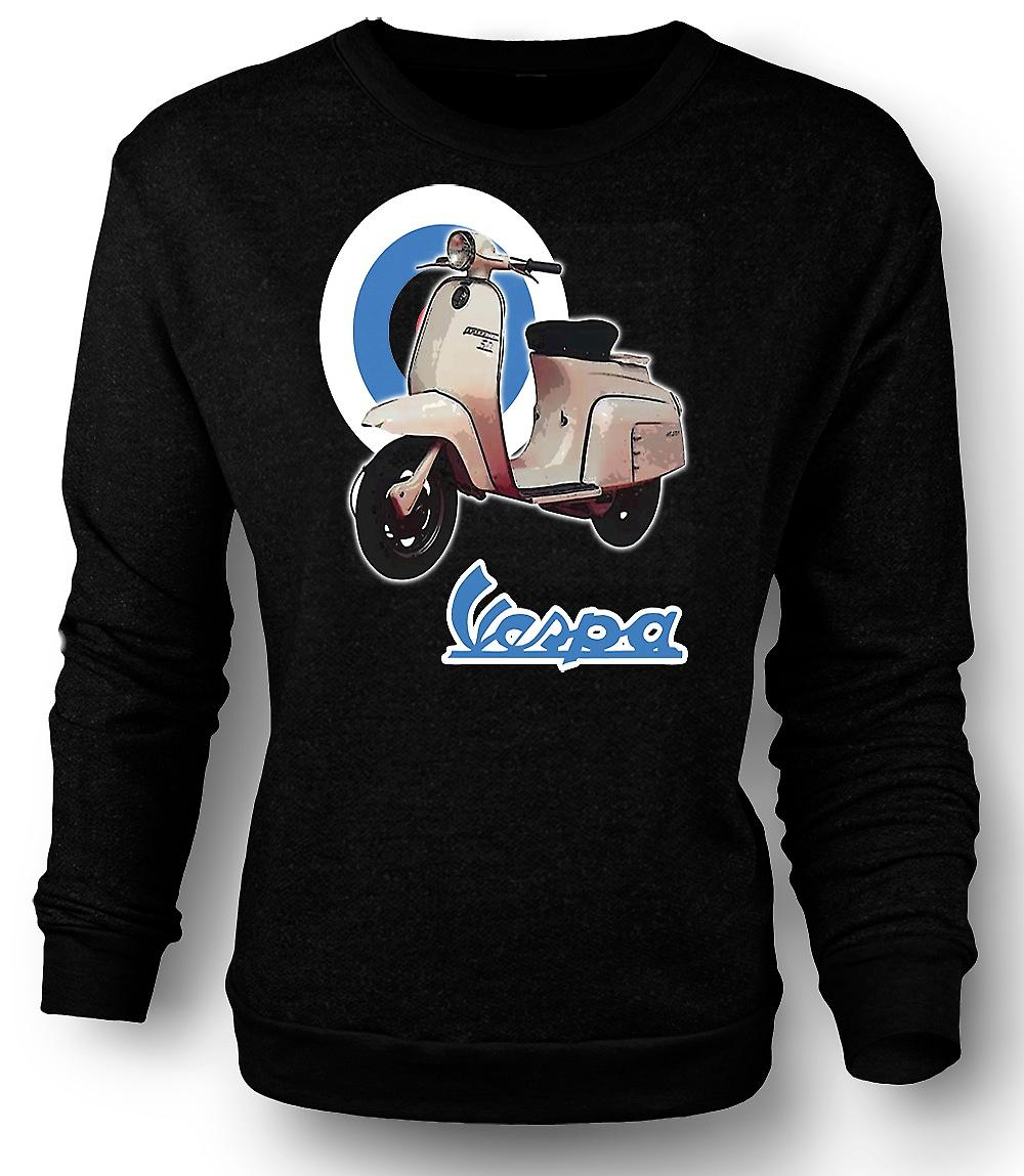Mens Sweatshirt Vespa - British Flag - Mod - Scooter