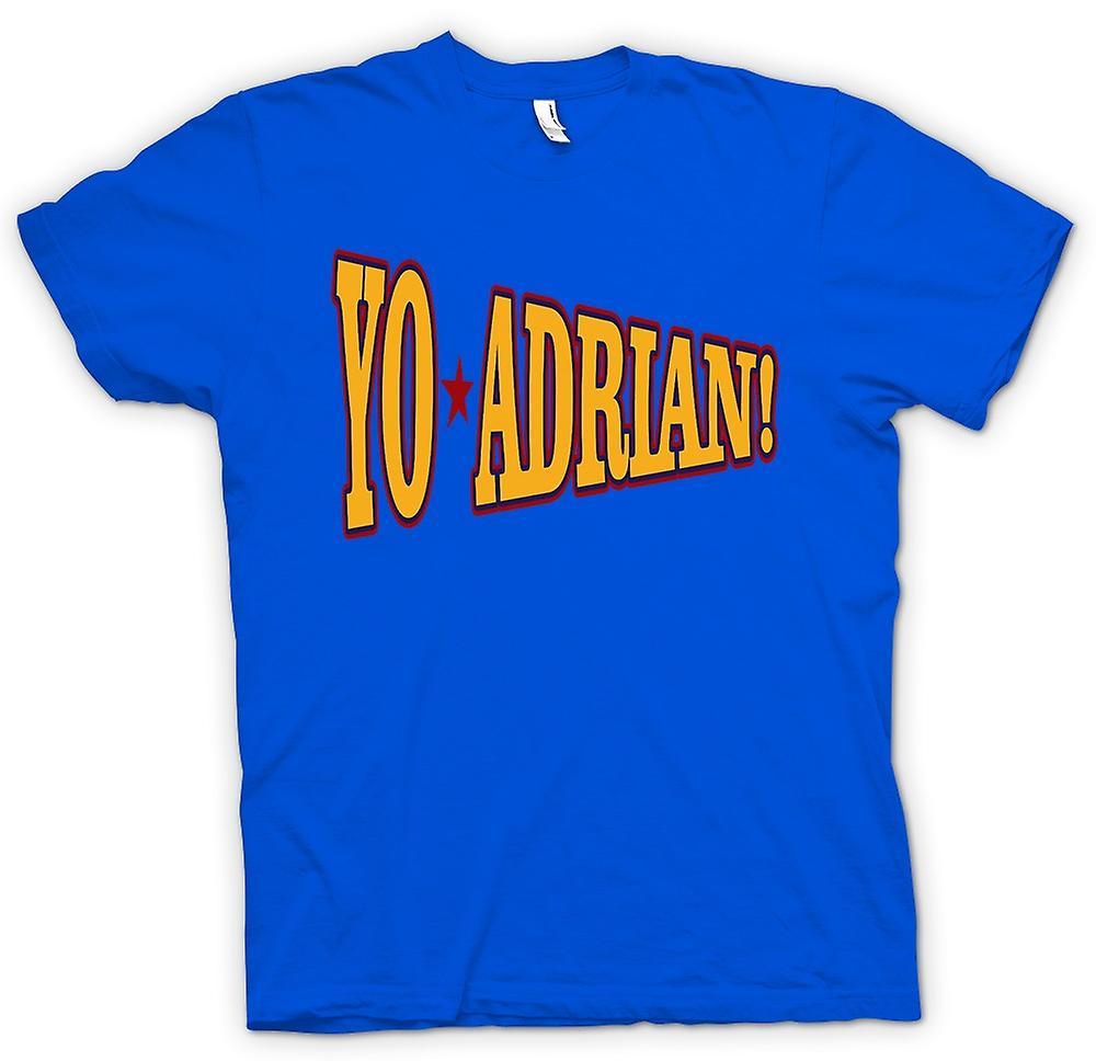 Mens t-shirt-Rocky Balboa Yo Adrian - Funny