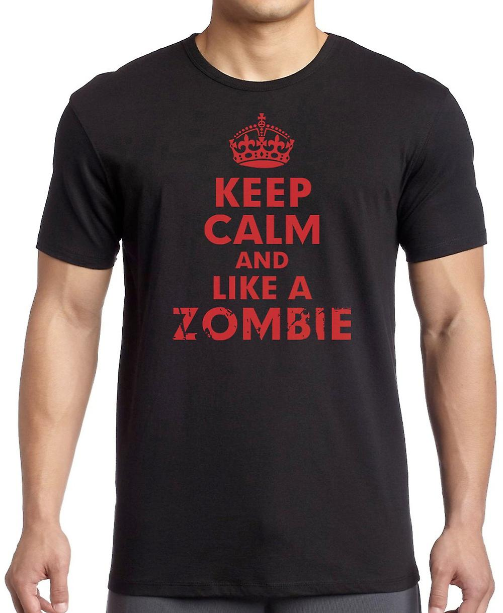 Keep Calm And Like A Zombie Women T Shirt