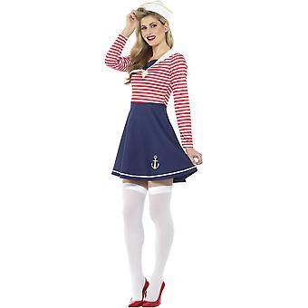 Matrosin Kostüm Größe L Damen Fasching Sailor Girl Seefahrerin 47632