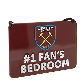 West Ham United FC offisielle soverom nr. 1 Fan skilt