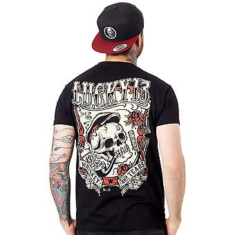 Lucky 13 Black Whiskey and Tears T-Shirt