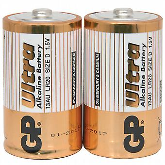 Alkaline D Batteries - 2 Pack