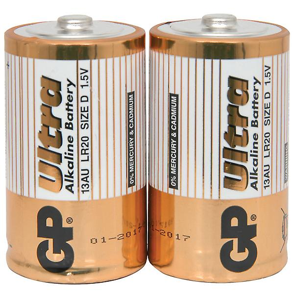 Alkaline D Batteries - 2 Pack