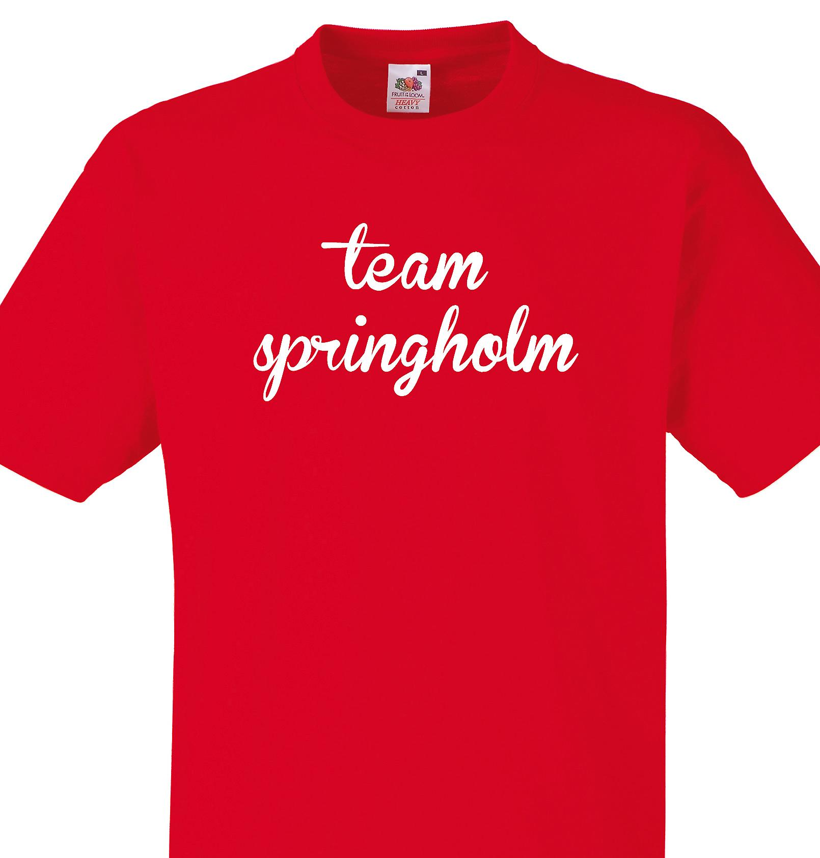 Team Springholm Red T shirt