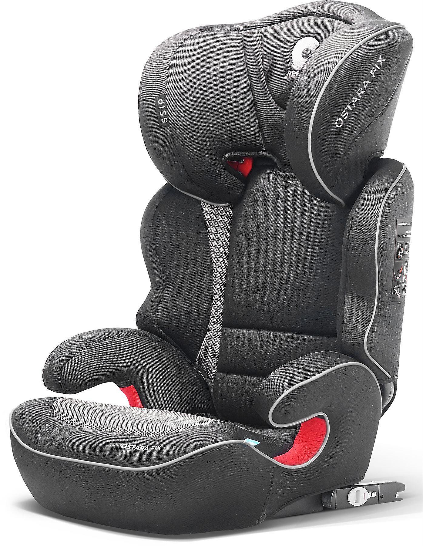 Apramo Ostara Fix enfant siège-auto groupe 2 3 d'encre noir