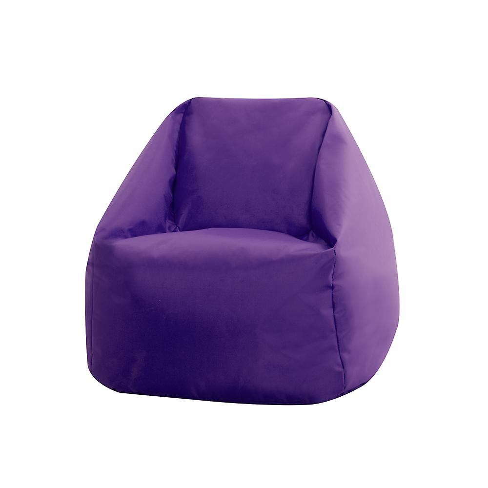 Bean Bag Bazaar® Hi-Rest Bean Bag Chair - Purple, Toddlers and Kids Indoor Outdoor Beanbag