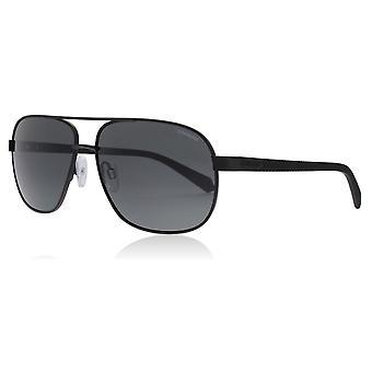 Polaroid PLD2059/S 003 Matte zwarte PLD2059/S ovale zonnebril gepolariseerd Lens categorie 3 grootte 60mm