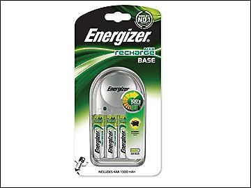 Energizer Charger 1300 + 4 AA 1300 mAh Batteries