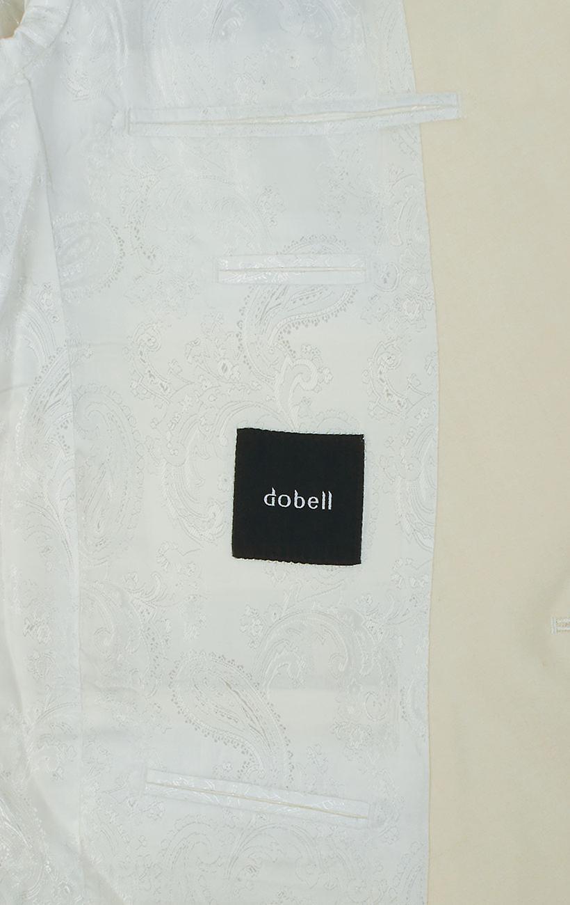 Dobell Mens White 2 Piece Tuxedo Regular Fit Notch Lapel Evening Dinner Suit Black Trousers