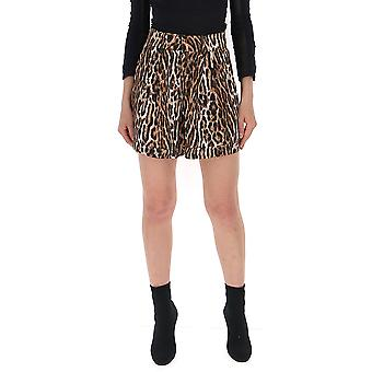 R13 Leopard Viscose Shorts