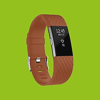 For Fitbit batch 2 plastic / silicone bracelet for women / size S Brown watch