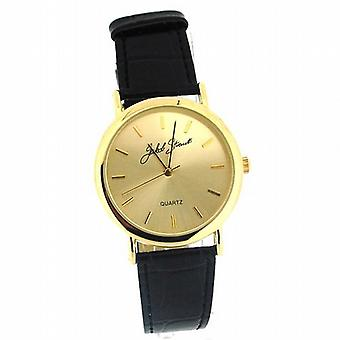 Jakob Strauss elegante Herren schwarz Strap Dress Watch JAST21