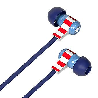 Tribe Captain America Stereo In-Ear Earphones