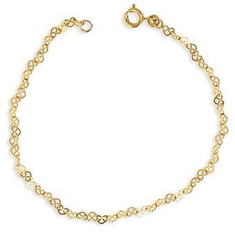 Guldpläterat halsband hjärta urholkad 45 cm