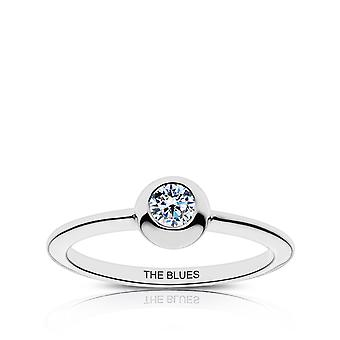 Chelsea Fc The Blues Engraved Diamond Ring