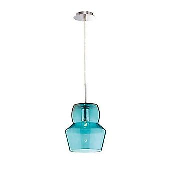 1 lumière grand plafond pendentif bleu