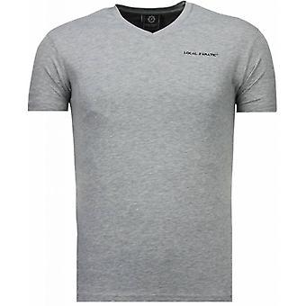 Basic exclusive V Neck-T-Shirt-Grey