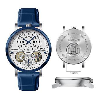 Carlo Cantinaro CC1004GL008 Men's Watch Quartzmatic GMT