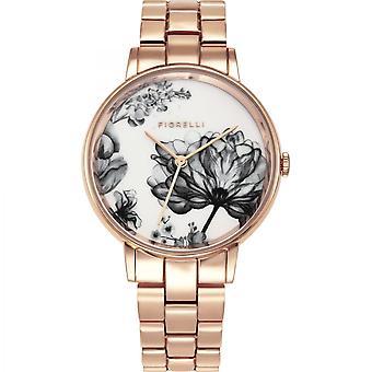 Fiorelli Ladies Watch Gold Bracelet White Dial FO043RGM
