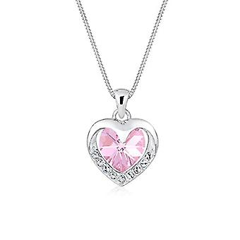 Elli Necklace with Silver Women's Pendant with Swarovski Heart Shape Crystals - 45 cm