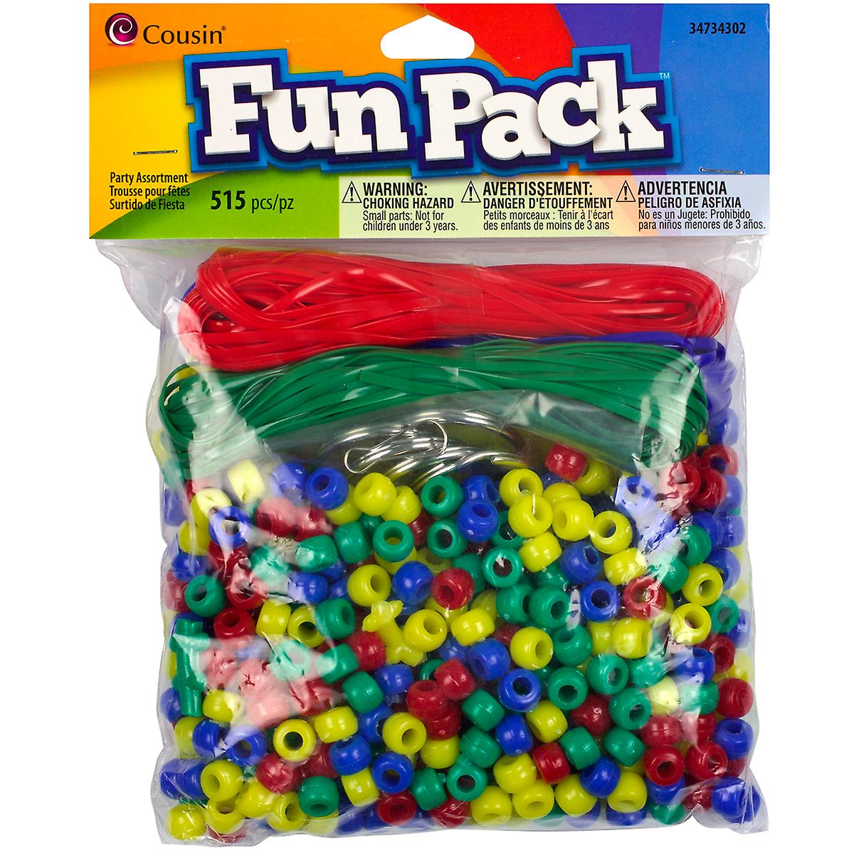 Fun Pack Pony Bead Party Packs ?Mm ? Pkg Primary Ccpp 34302