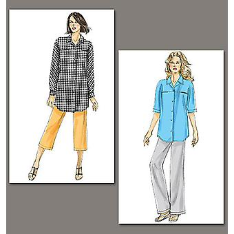 Misses' Shirt And Pants  B5 8  10  12  14  16 Pattern V8735  B50