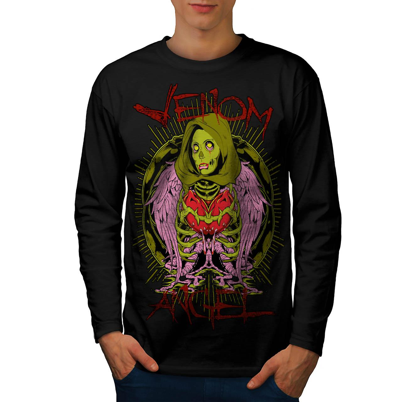 Venom Angel Death Pit Zombies Men Black Long Sleeve T-shirt | Wellcoda