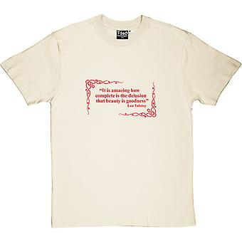 Leo Tolstoy Beauty Delusion Quote Men's T-Shirt
