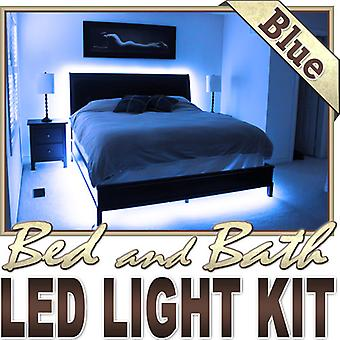 Biltek 6' ft Blue Bath Tub Sink Mirror LED Strip Lighting Complete Package Kit Lamp Light DIY - Headboard Closet Make Up Counter Mirror Reading Strip Lamp Waterproof 3528 SMD Flexible DIY 110V-220V