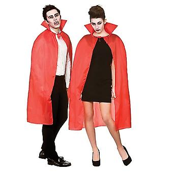 Adult's Halloween Red Cape with Collar Fancy Dress Accessory 42