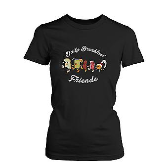 Daily Breakfast Friends Bread, Orange Juice, Sausage, Bacon and Egg Women's Tee  Funny Shirt