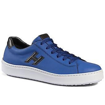 H302 hogan sneakers scarpe in pelle blu