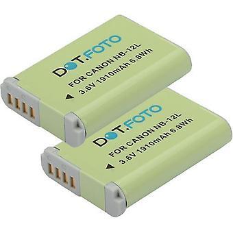 2 x bateria de substituição Dot.Foto Canon NB - 12L - 3.6 v / 1250mAh