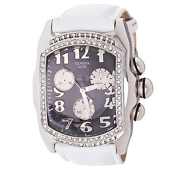 Iced out bling hip hop watch - white / black