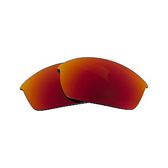 New SEEK Polarized Replacement Lenses - Oakley FLAK JACKET ASIAN FIT Red Yellow