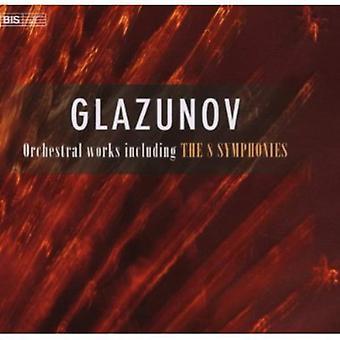 A. Glazunov - Glazunov: Orkesterværker, herunder 8 symfonier [bokssæt] [CD] USA importerer