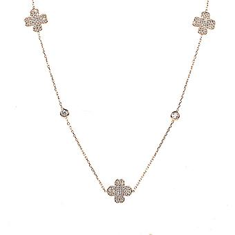 Necklace long Clover Rosegold